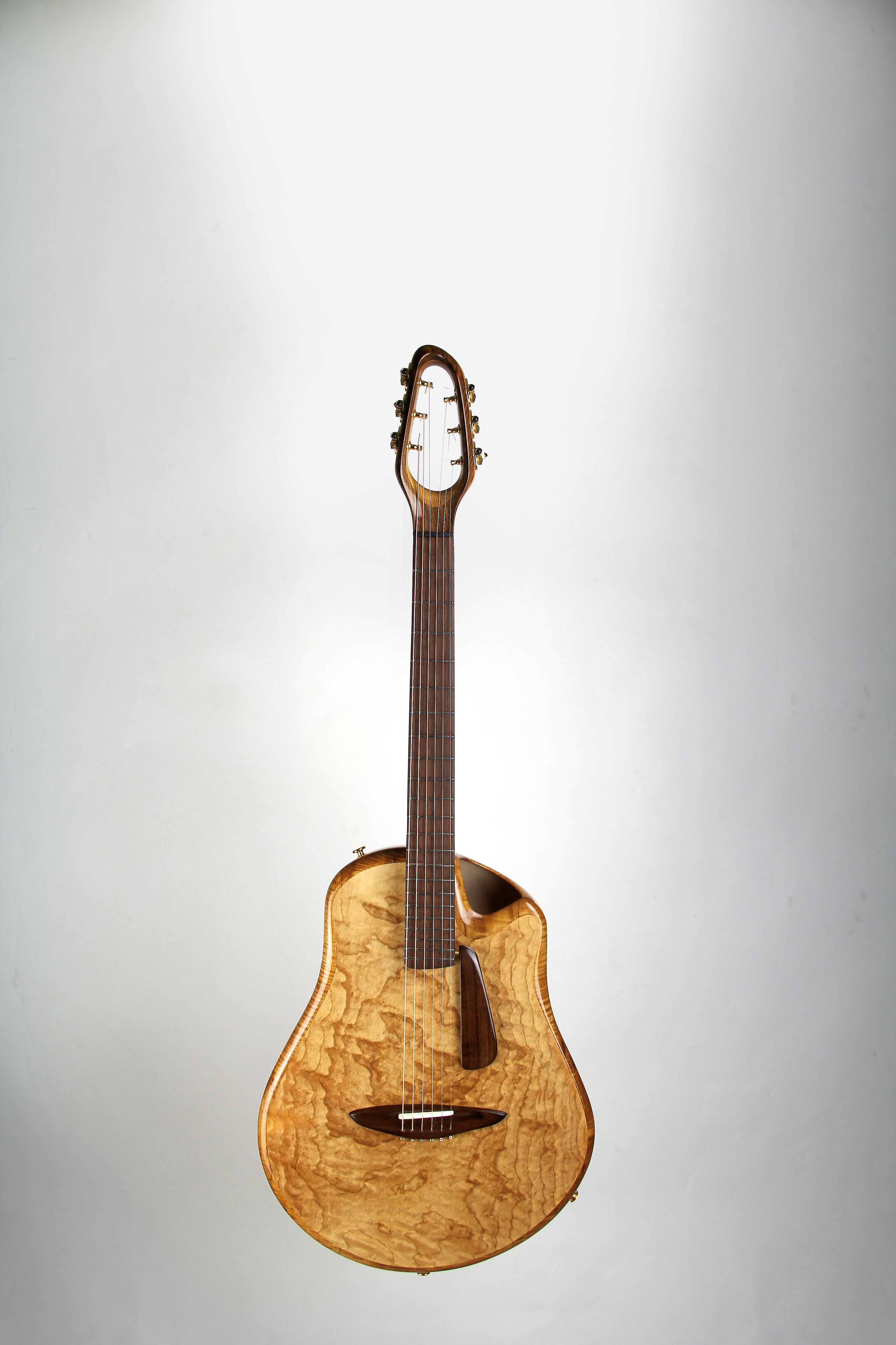 CannaGuitar with top from Sonoveneer flamed maple, fretboard and bridge from Sonowood walnut