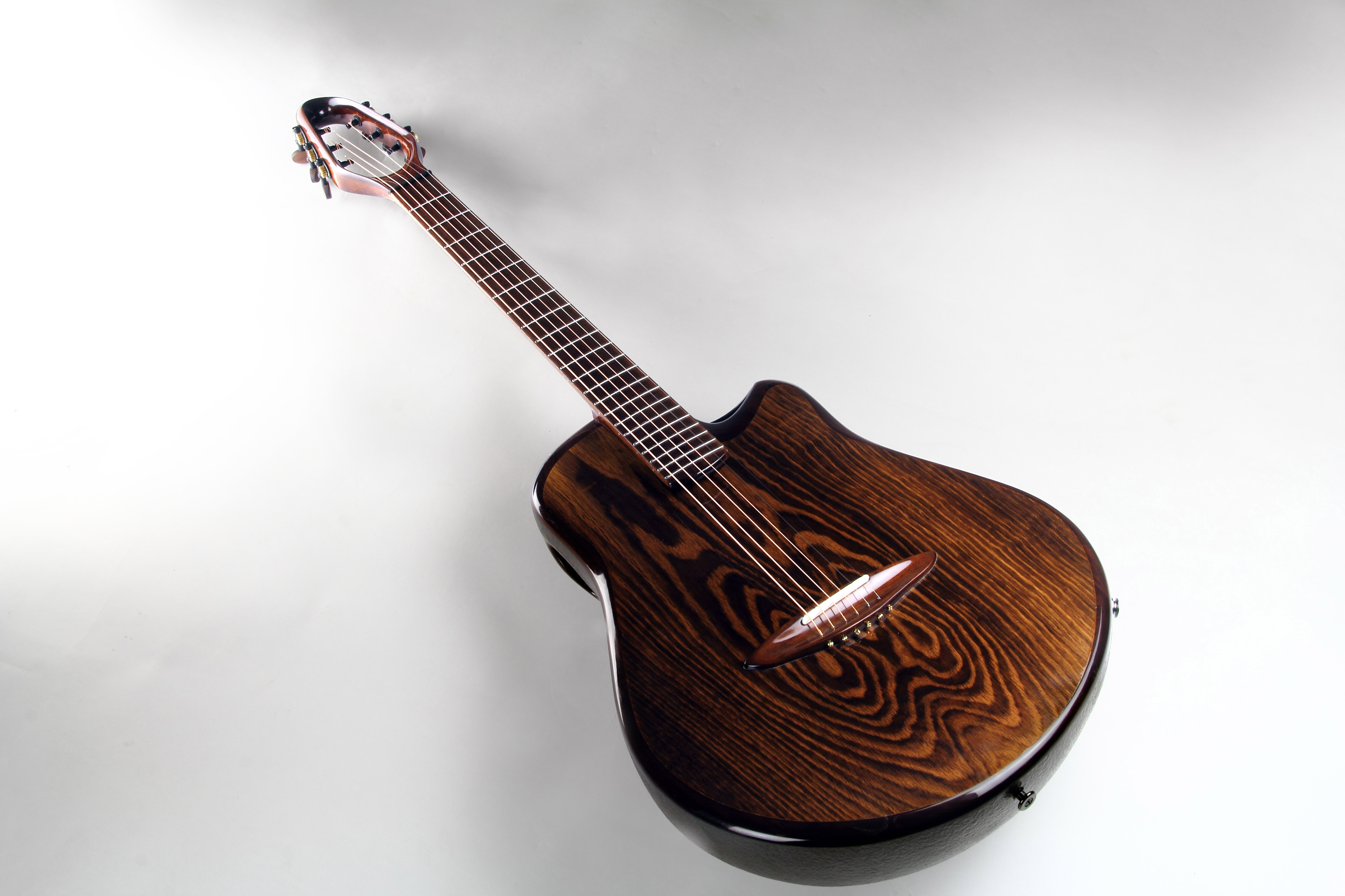 CannaGuitar with top from Sonoveneer oak, fretboard and bridge from Sonowood walnut