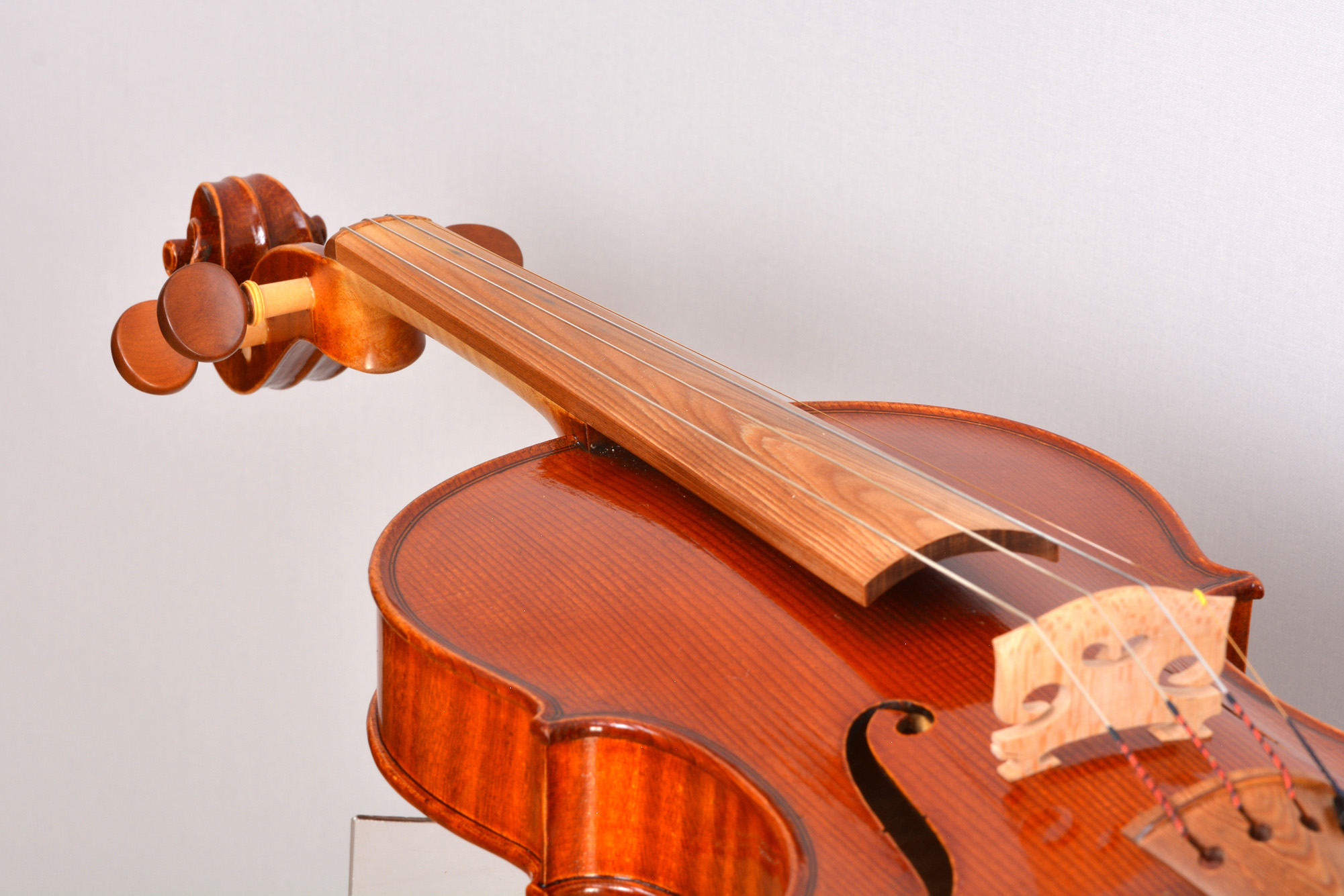 Violin with a fingerboard from Sonowood spruce equipped by Wilhelm Geigenbau