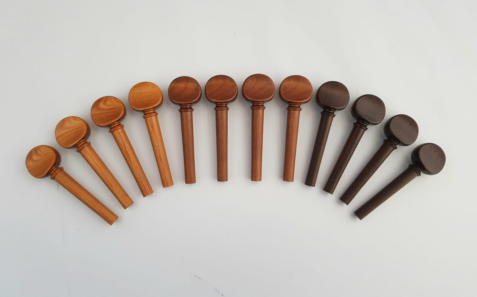 Pegs from Sonowood spruce, maple and walnut made by Berdani Feinste Bestandteile